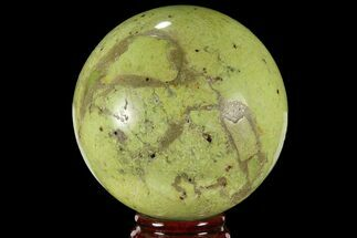 "3.3"" Polished Green Opal Sphere - Madagascar For Sale, #95885"