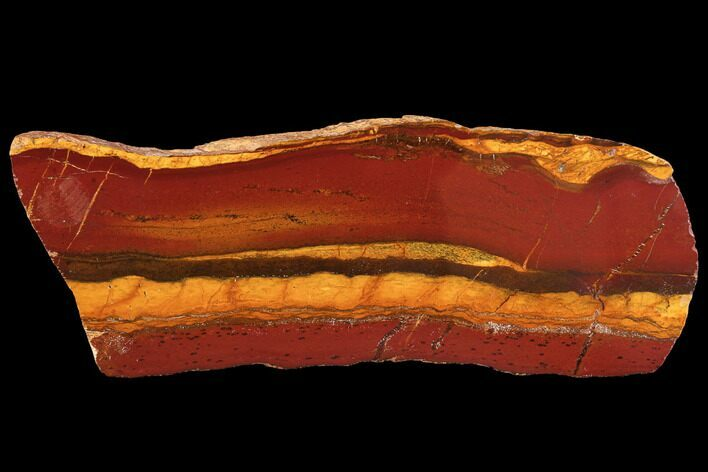 "7.2"" Polished ""Desert Sunset"" Banded Iron - Western Australia"