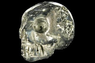 "Buy 3.1"" Polished Pyrite Skull With Pyritohedral Crystals - Peru - #96334"