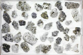 Pyrite, Galena, Quartz, Sphalerite, Calcite & More - Fossils For Sale - #97062