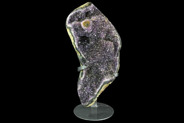 "14.5"" Beautiful Amethyst Geode/Cluster - Custom Metal Stand"