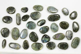 Wholesale Box: Polished Labradorite Pebbles - 1 kg (2.2 lbs) For Sale, #90632