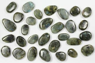 Wholesale Box: Polished Labradorite Pebbles - 1 kg (2.2 lbs) For Sale, #90626