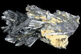 "3.9"" Metallic Stibnite Crystal Cluster - China - #97816-1"