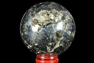 "Buy 2.3"" Polished Pyrite Sphere - Peru - #97993"