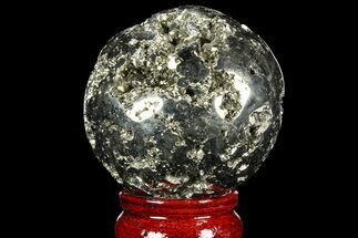 "Buy 2.45"" Polished Pyrite Sphere - Peru - #98002"