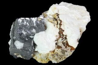 "2.9"" Galena & White Barite Association - Missouri For Sale, #96365"
