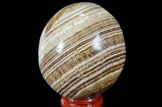 "2.2"" Polished, Banded Aragonite Egg - Morocco For Sale, #98447"