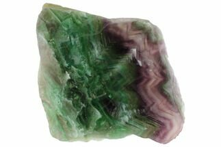"Buy 7.2"" Polished Green & Purple Fluorite Slab - China - #98629"