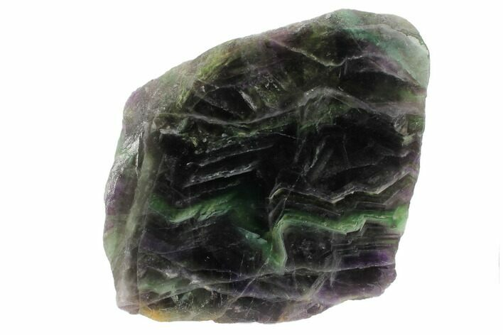 "6.7"" Polished Green & Purple Fluorite Slab - China"