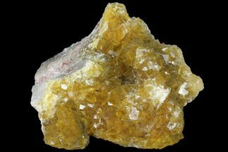 "Buy 4.2"" Yellow, Cubic Fluorite Crystal Cluster - Spain - #98713"