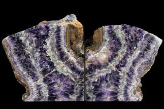 "5.5"" Tall, Chevron Amethyst Bookends - Morocco For Sale, #99290"