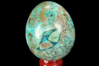 "Buy 2.5"" Polished Chrysocolla Egg - Peru - #99469"