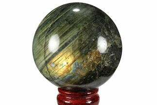 "Buy 3.15"" Flashy, Polished Labradorite Sphere - Great Color Play - #99385"