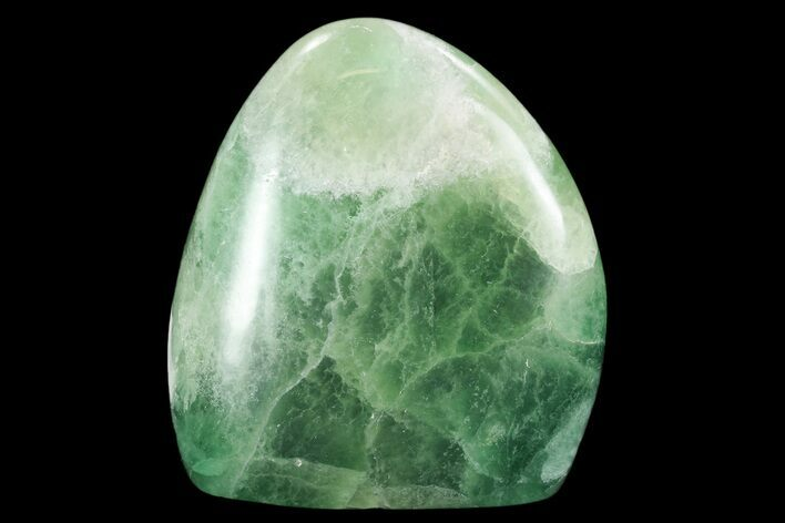 "4.6"" Polished Green Fluorite Freeform - Madagascar"