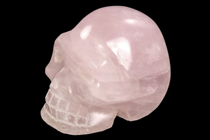 "3.9"" Polished Rose Quartz Crystal Skull - Madagascar"