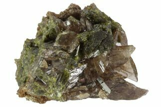 Axinite & Epidote - Fossils For Sale - #99666