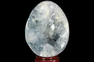 "3.8"" Crystal Filled Celestine (Celestite) ""Egg"" Geode - Madagascar For Sale, #100043"