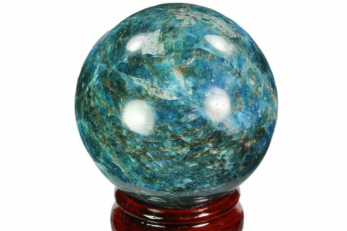 "2.4"" Bright Blue Apatite Sphere - Madagascar"
