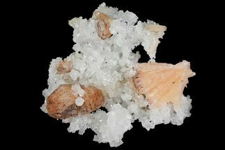 Stilbite & Quartz - Fossils For Sale - #102396