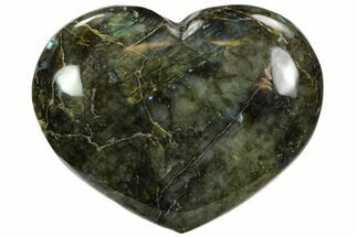 "Buy 4.9"" Flashy Polished Labradorite Heart - #62944"