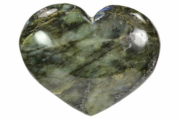 "3.8"" Flashy Polished Labradorite Heart"