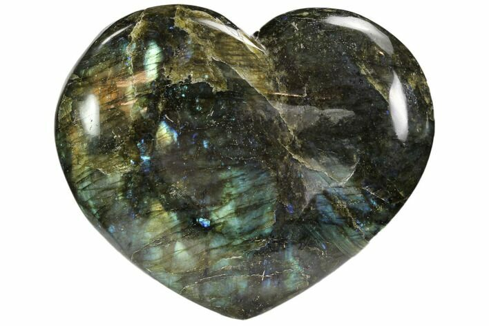 "5.0"" Flashy Polished Labradorite Heart"