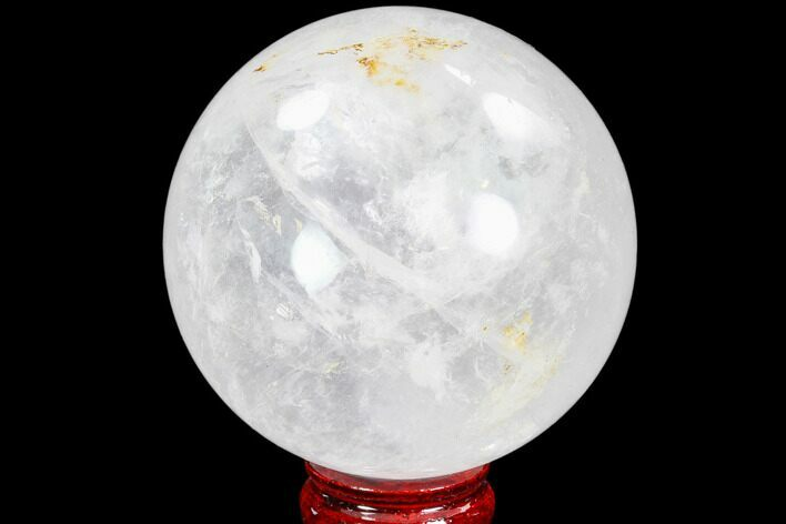 "3.7"" Polished Quartz Sphere - Madagascar"