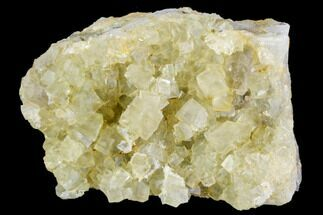 "Buy 3.9"" Yellow Cubic Fluorite Crystal Cluster - Morocco - #104605"