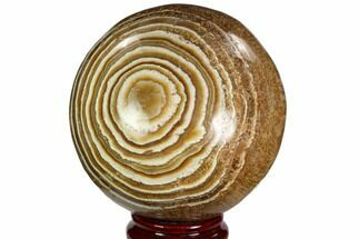 "4.4"" Polished, Banded Aragonite Sphere - Morocco For Sale, #105620"