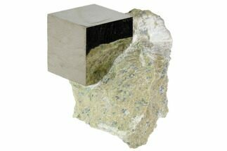 "Buy .88"" Pyrite Cube In Matrix - Navajun, Spain - #105406"