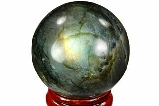 "1.6"" Flashy, Polished Labradorite Sphere - Great Color Play For Sale, #105731"