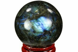 "Buy 1.55"" Flashy, Polished Labradorite Sphere - Great Color Play - #105775"