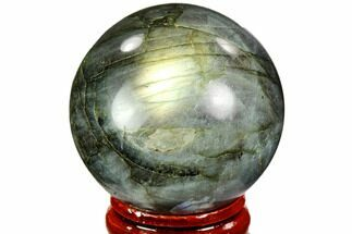 "Buy 1.6"" Flashy, Polished Labradorite Sphere - Great Color Play - #105778"