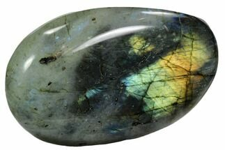 "3.7"" Flashy, Polished Labradorite Pebble - Madagascar For Sale, #105920"