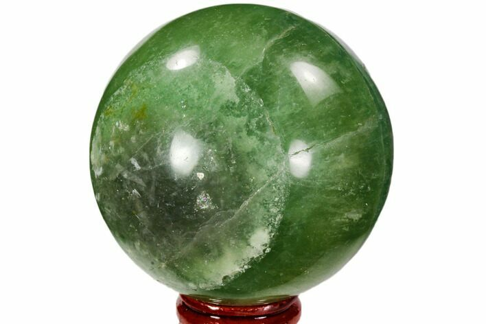 "2.7"" Polished Green Fluorite Sphere - Madagascar"