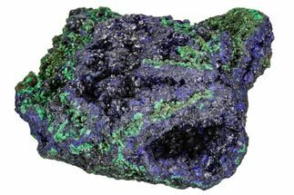 "Buy 2.1"" Sparkling Azurite Crystals With Malachite - Laos - #107188"