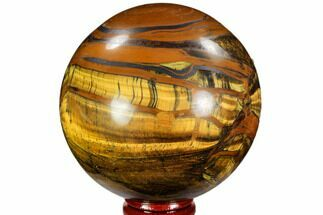 "3.05"" Polished Tiger's Eye Sphere - Africa For Sale, #107312"