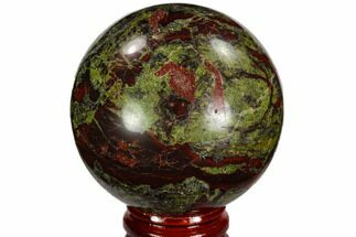 "Buy 2.35"" Polished Dragon's Blood Jasper Sphere - South Africa - #108559"