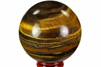 "2.6"" Polished Tiger's Eye Sphere - Africa For Sale, #110000"
