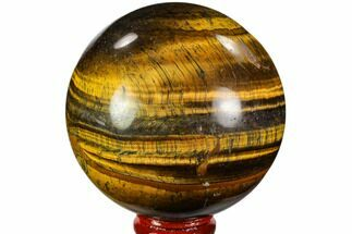 "Buy 2.95"" Polished Tiger's Eye Sphere - Africa - #110005"