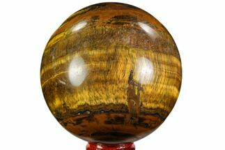"3.2"" Polished Tiger's Eye Sphere - Africa For Sale, #110006"