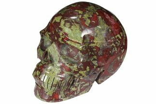 "4.3"" Polished Dragon's Blood Jasper Skull - South Africa For Sale, #110078"