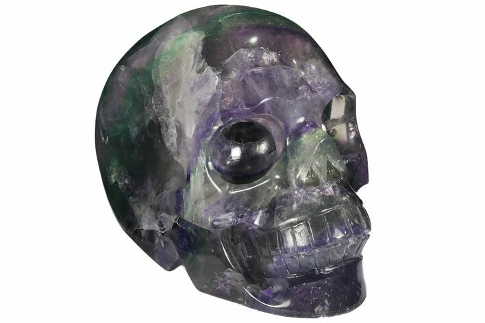 "4.9"" Colorful, Banded (Rainbow) Fluorite Skull"