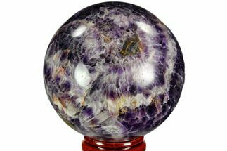 "2.45"" Polished Chevron Amethyst Sphere - Morocco For Sale, #110231"