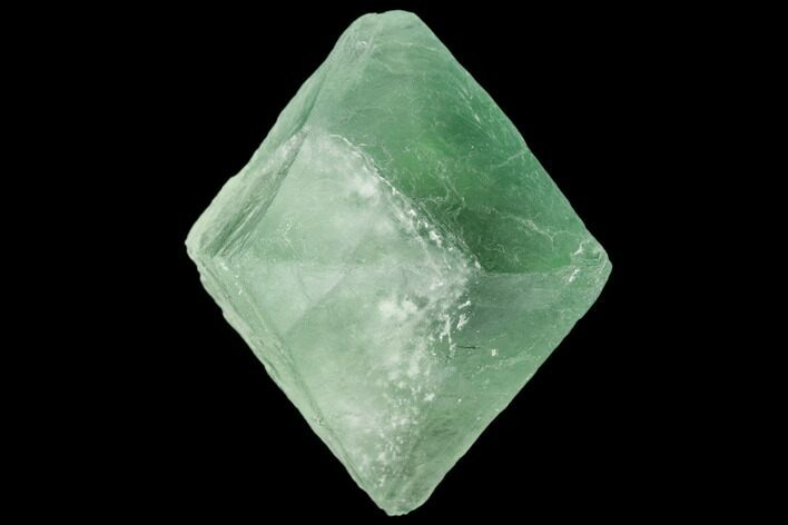 "1.55"" Apple-Green Fluorite Octahedron - China"