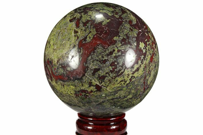 "4.5"" Polished Dragon's Blood Jasper Sphere - South Africa"