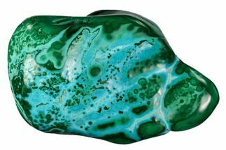 "Buy Bargain, 3.3"" Polished Botryoidal Chrysocolla and Malachite - Congo - #112165"