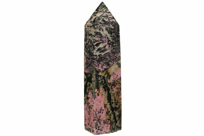 "9.9"" Tall, Polished Rhodonite Obelisk - Madagascar"