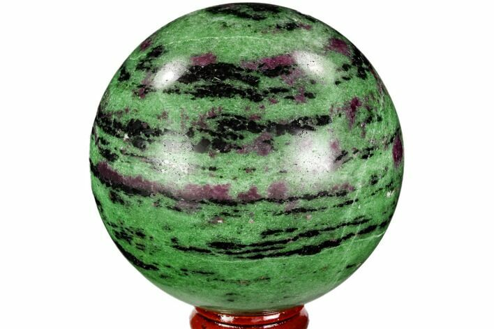 "2.9"" Polished Ruby Zoisite Sphere - Tanzania"
